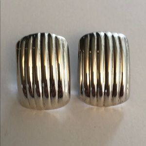 Sterling silver clip earrings